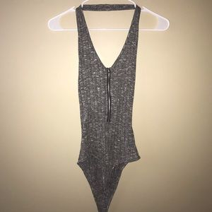 CHARLOTTE RUSSE Bodysuit with Zipper